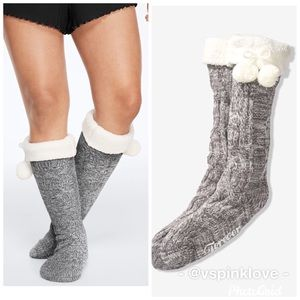 🧦New! VS PINK Cable Knit Socks